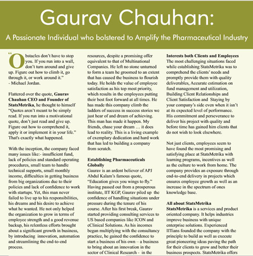 gaurav chuhan press release
